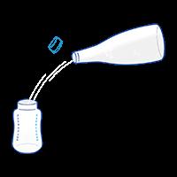 Etape 1: vers l'eau dans le biberon