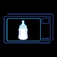 Etape 2: réchauffer le biberon au micro-ondes
