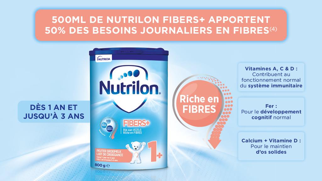 Découvrez Nutrilon Fiber +
