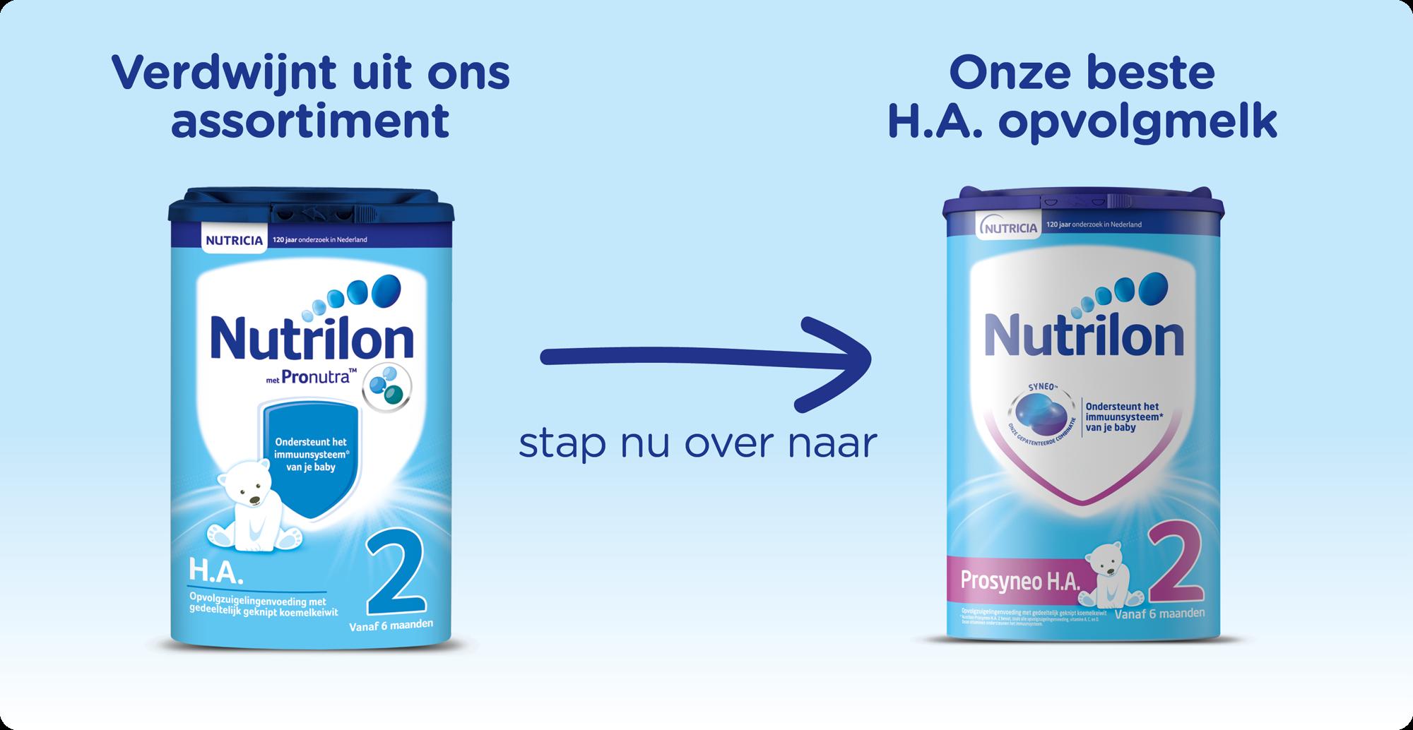 Nutrilon HA stapt over naar Nutrilon Prosyneo HA