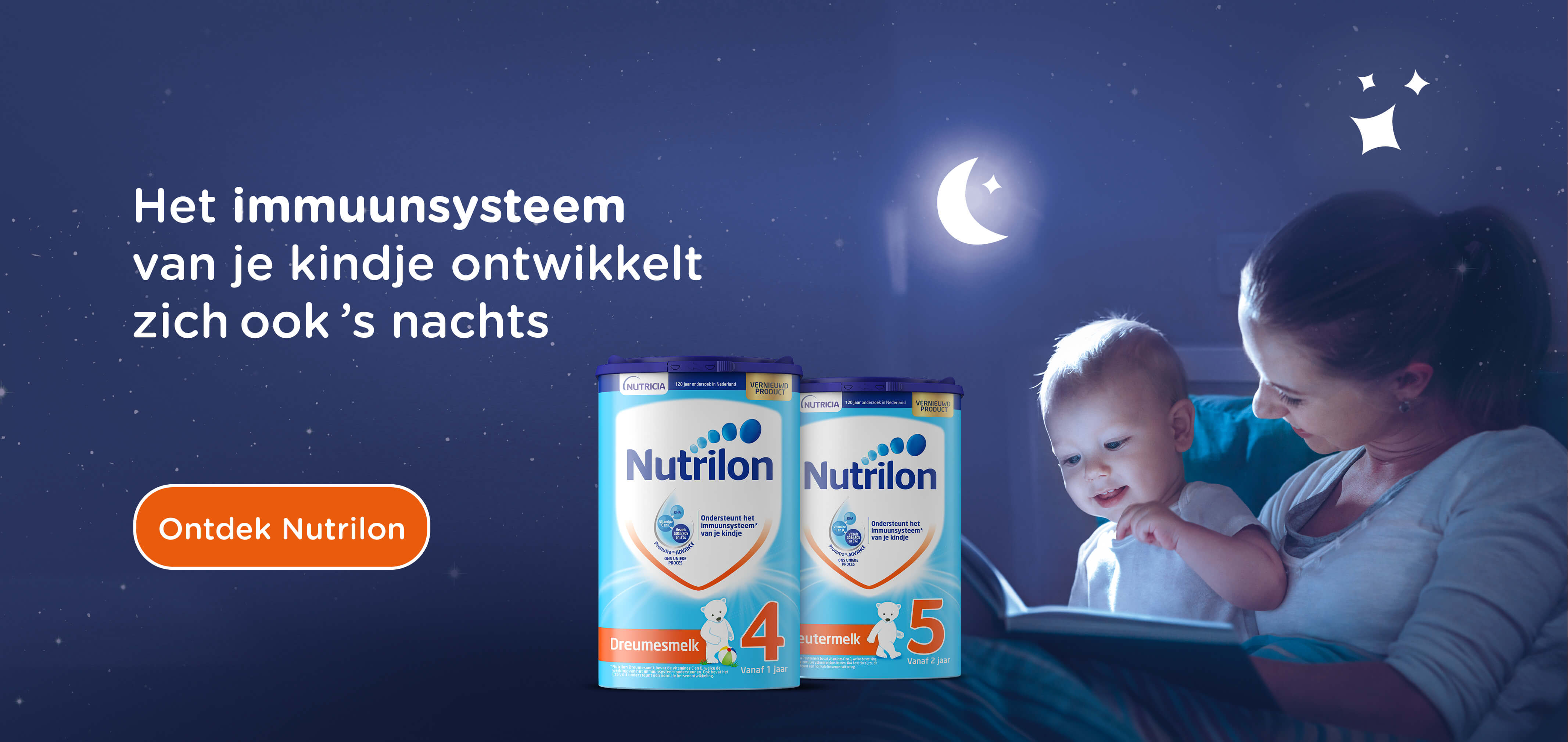 Nutrilon dreumesmelk en peutermelk