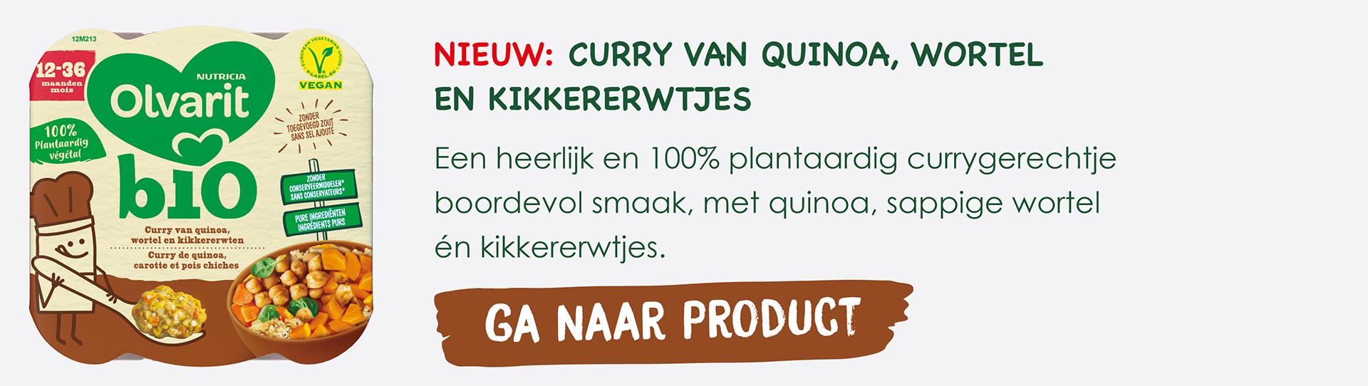curry van quinoa, wortel en kikkererwten