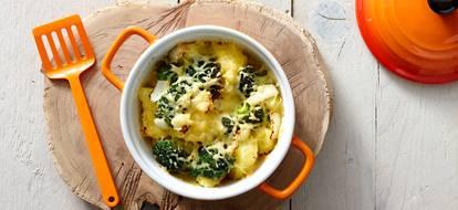 aardappelschotel met kaas en broccoli
