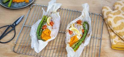 kabeljauw-papillote-met-asperges-en-zoete-aardappel
