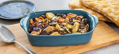 ovenschotel aardappel groente runderworst