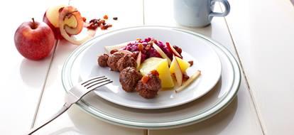 rodekool-aardappeltjes-gehaktballetjes