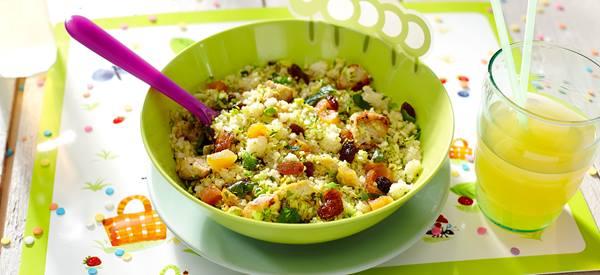 Couscous met rode kool en kipfilet
