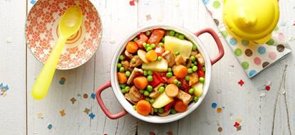 stoofpotje met kalkoen worteltjes en tomaat