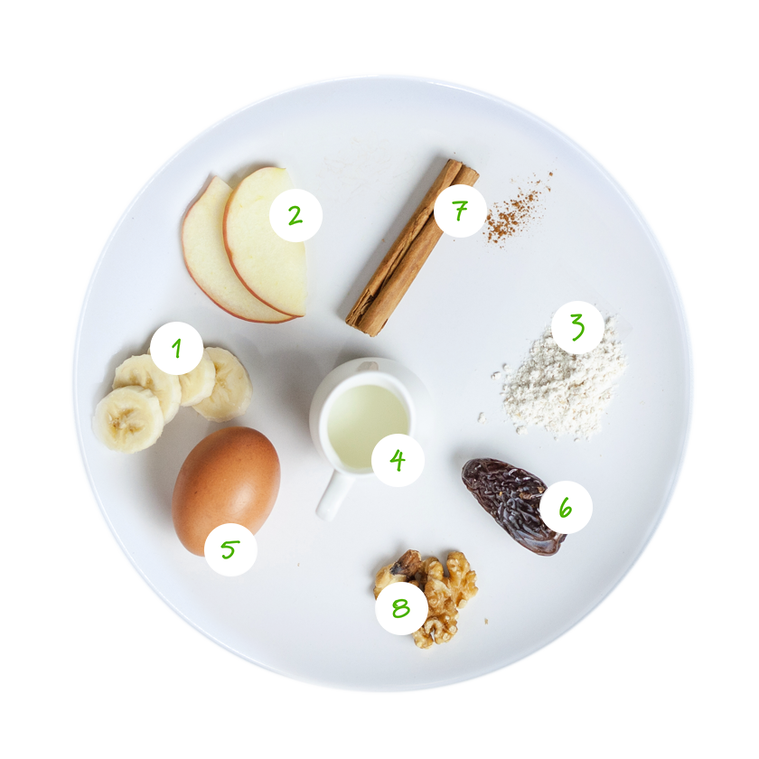 ingrediënten appel kaneel muffins