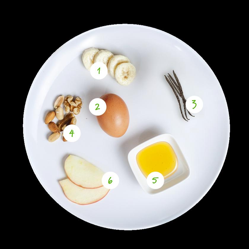 ingrediënten banaanpannenkoekjes