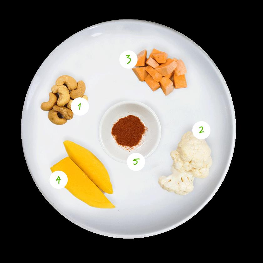 ingredienten bloemkool curry