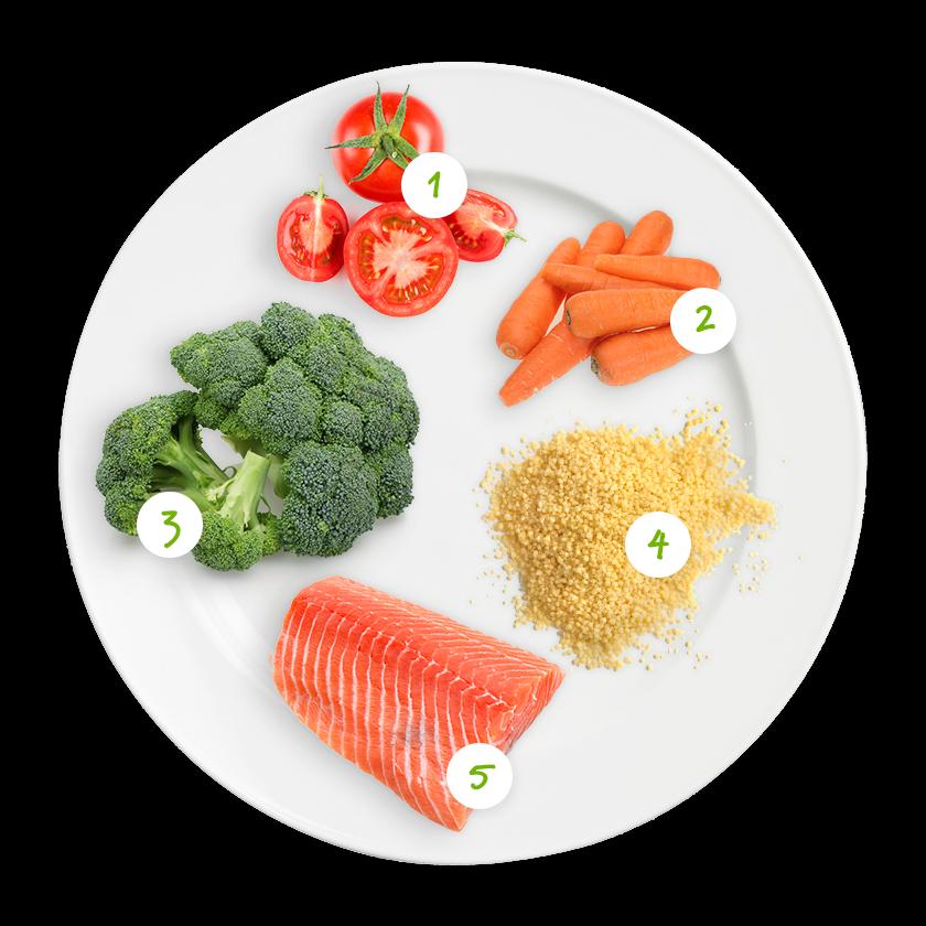 ingrediënten couscous met zalige zalm