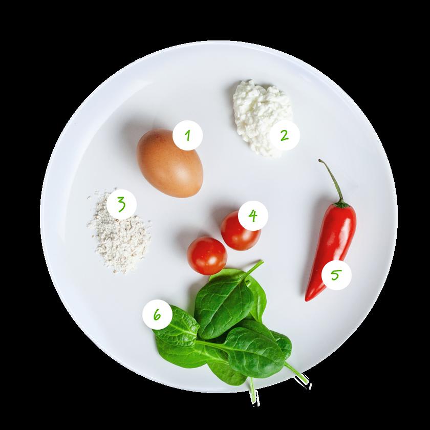 ingrediënten hartige pannenkoekjes