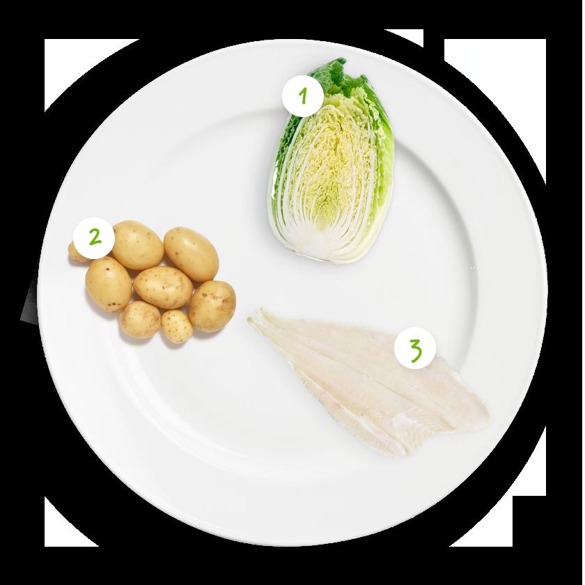 ingrediënten schol spitskool aardappelpuree
