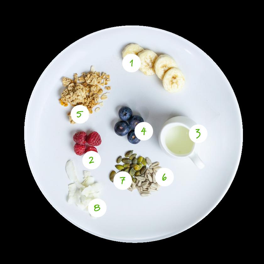 ingrediënten smoothiebowl