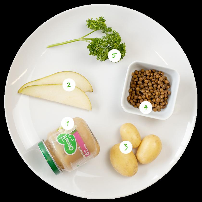 ingrediënten voor stamppot met peertjes