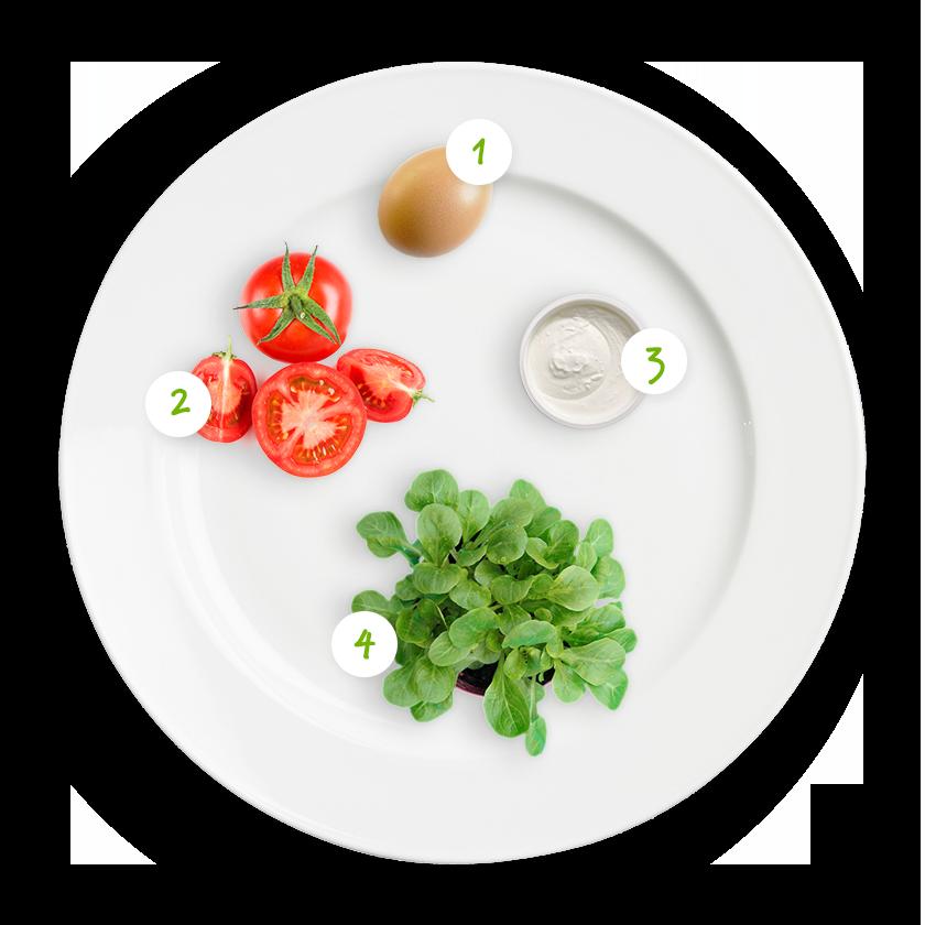 ingrediënten tomaten paddestoel