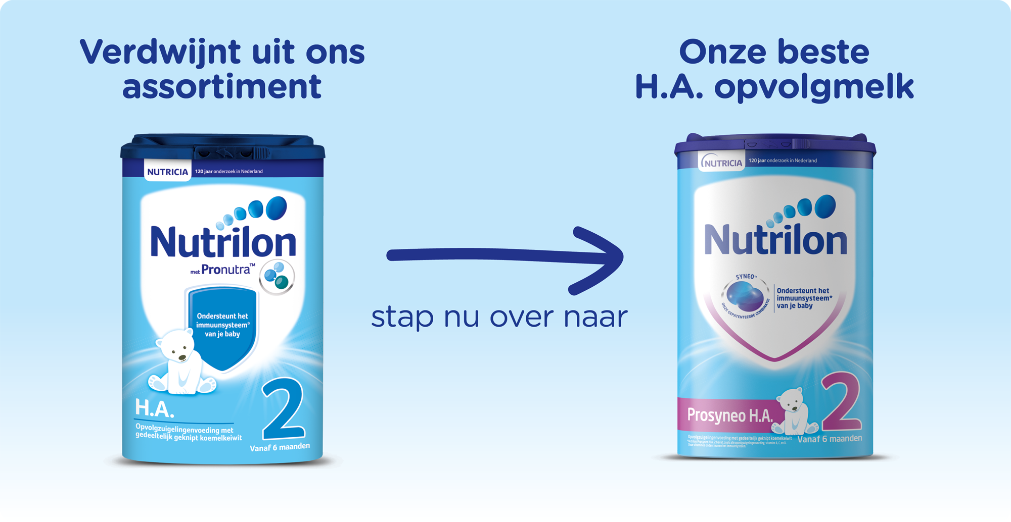 Nutrilon HA stapt over naar Nutrilon Prosyneo HA