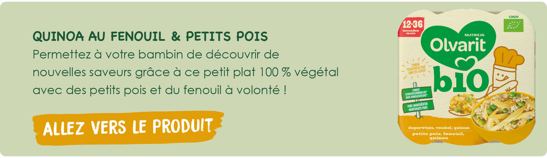 Assiette Olvarit Bio poulet-patate douce