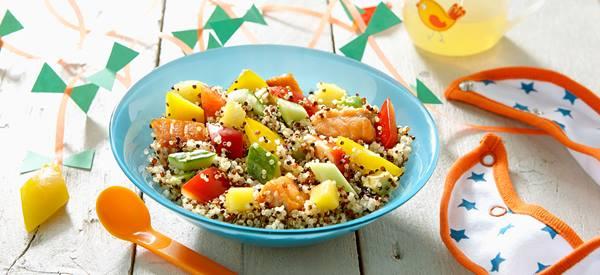 Couscous met zalige zalm en keurige worteltjes