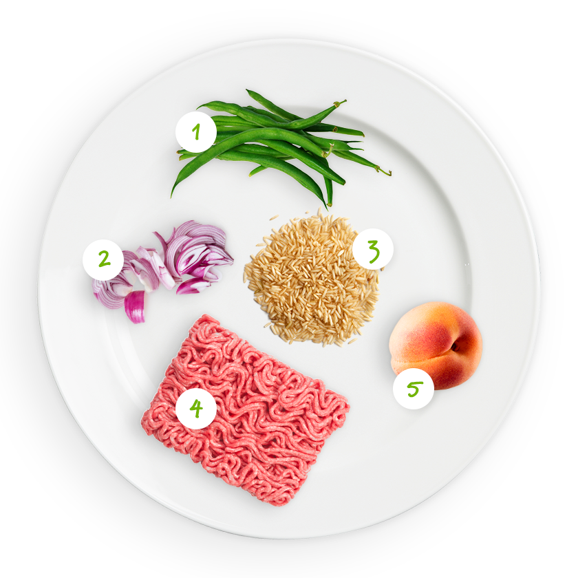 ingrediënten prinsessenboontjes met rijst