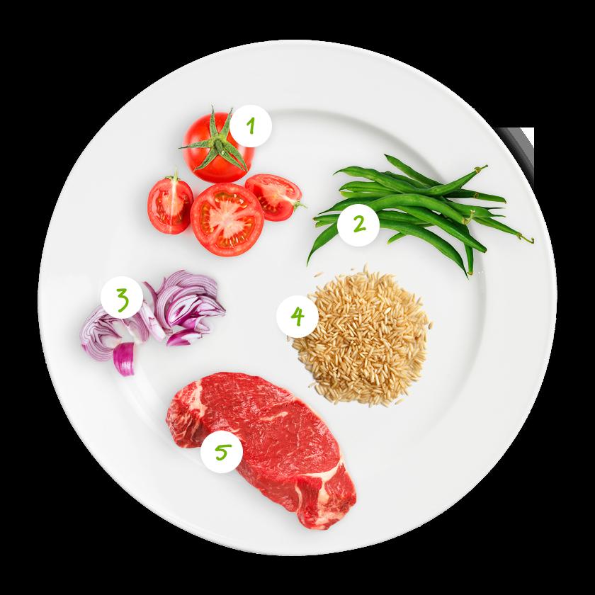 ingrediënten rijst met boontjes en toffe tomaatjes