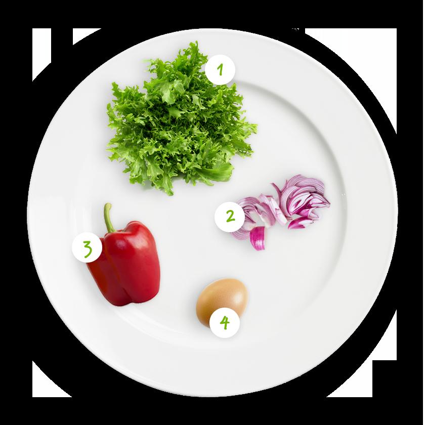 ingrediënten roerei met superandijvie