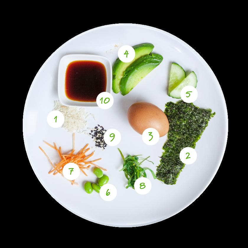 ingrediënten sushibowl