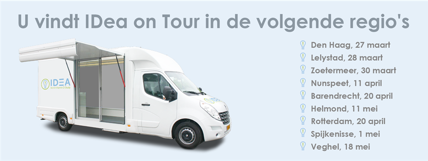 IDea on tour in de volgende reagio's